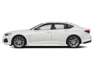 Platinum White Pearl 2021 Acura TLX Pictures TLX FWD photos side view