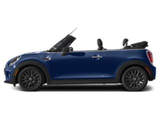 Starlight Blue Metallic 2021 MINI Convertible Pictures Convertible Cooper FWD photos side view