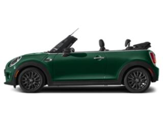 British Racing Green IV Metallic 2021 MINI Convertible Pictures Convertible Cooper FWD photos side view