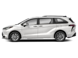 Super White 2021 Toyota Sienna Pictures Sienna LE AWD 8-Passenger photos side view