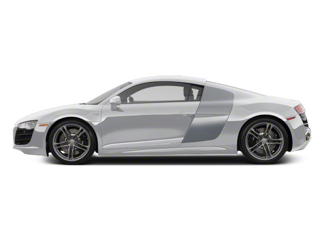 Ice Silver Metallic With Apollo Silver Sideblades 2010 Audi R8 Pictures R8 2 Door Coupe Quattro 5.2l (manual) photos side view