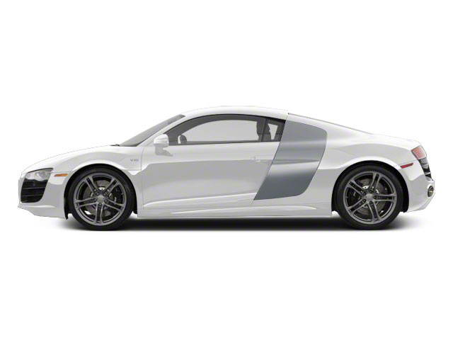 Ibis White With Ice Silver Sideblades 2010 Audi R8 Pictures R8 2 Door Coupe Quattro 5.2l (manual) photos side view
