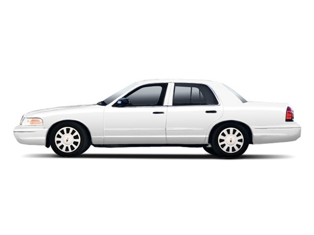 Vibrant White 2010 Ford Crown Victoria Pictures Crown Victoria Sedan 4D S photos side view