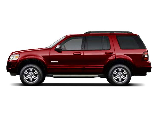 Sangria Red Metallic 2010 Ford Explorer Pictures Explorer Utility 4D XLT 2WD photos side view