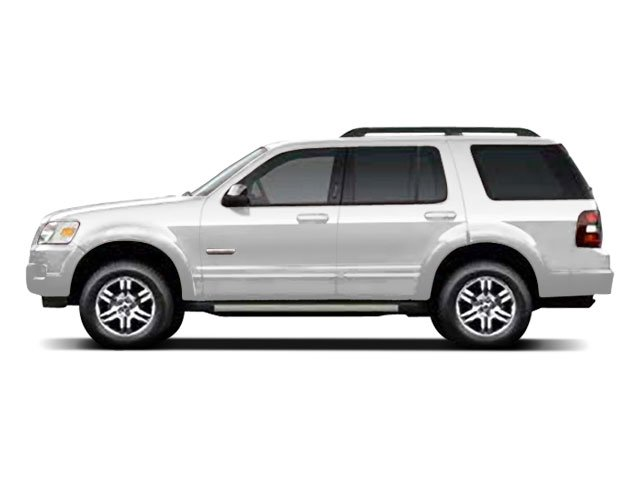 White Suede 2010 Ford Explorer Pictures Explorer Utility 4D XLT 2WD photos side view