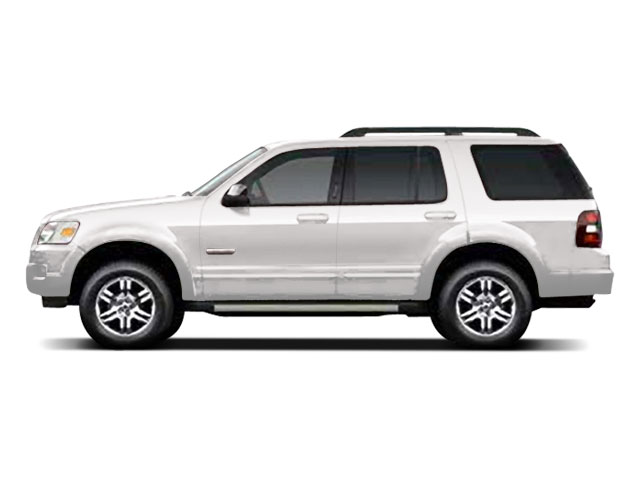 Oxford White 2010 Ford Explorer Pictures Explorer Utility 4D XLT 2WD photos side view