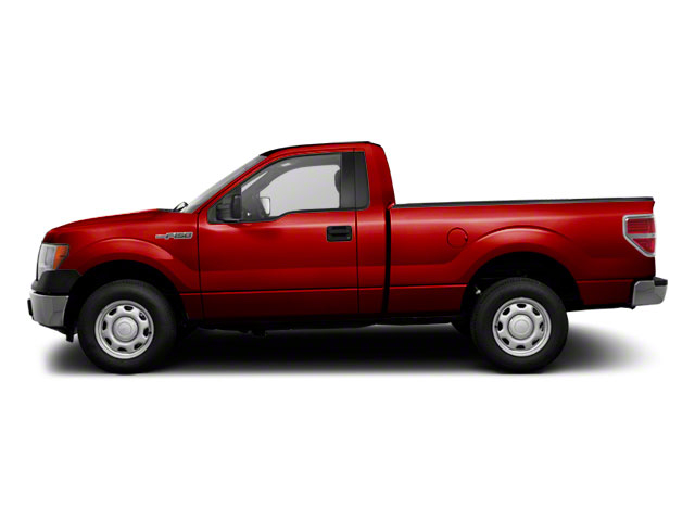 Vermillion Red 2010 Ford F-150 Pictures F-150 Regular Cab XLT 2WD photos side view