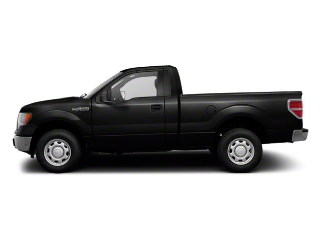 Tuxedo Black 2010 Ford F-150 Pictures F-150 Regular Cab XLT 2WD photos side view
