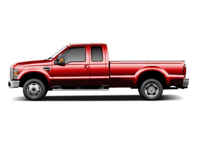 Vermillion Red 2010 Ford Super Duty F-350 DRW Pictures Super Duty F-350 DRW Supercab Lariat 4WD photos side view