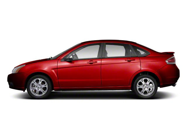 Sangria Red Metallic 2010 Ford Focus Pictures Focus Sedan 4D SE photos side view