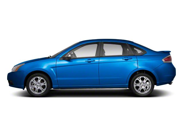 Blue Flame Metallic 2010 Ford Focus Pictures Focus Sedan 4D SE photos side view
