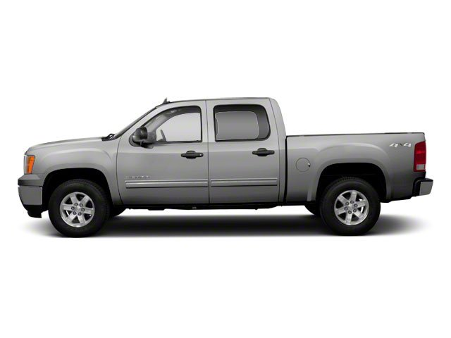 Pure Silver Metallic 2010 GMC Sierra 1500 Pictures Sierra 1500 Crew Cab SL 4WD photos side view