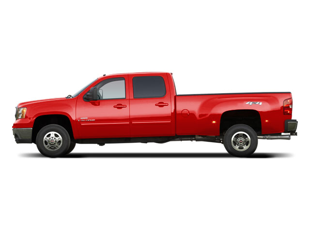 Fire Red 2010 GMC Sierra 3500HD Pictures Sierra 3500HD Crew Cab SLT 2WD photos side view