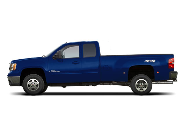 Midnight Blue Metallic 2010 GMC Sierra 3500HD Pictures Sierra 3500HD Extended Cab SLE 2WD photos side view
