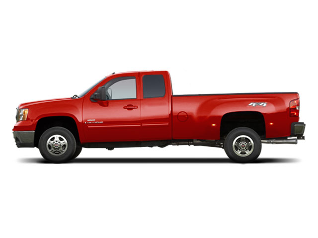 Fire Red 2010 GMC Sierra 3500HD Pictures Sierra 3500HD Extended Cab SLE 2WD photos side view
