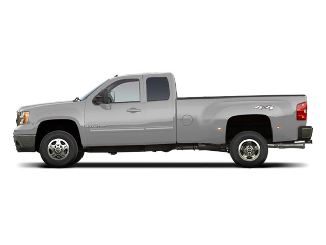 Pure Silver Metallic 2010 GMC Sierra 3500HD Pictures Sierra 3500HD Extended Cab SLE 2WD photos side view