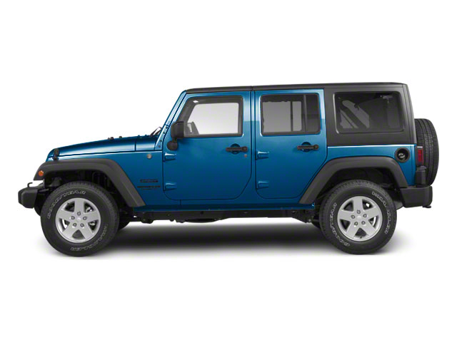 Deep Water Blue Pearl 2010 Jeep Wrangler Unlimited Pictures Wrangler Unlimited Utility 4D Unlimited Sport 4WD photos side view