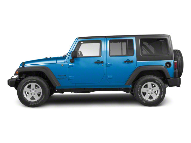 Surf Blue Pearl 2010 Jeep Wrangler Unlimited Pictures Wrangler Unlimited Utility 4D Unlimited Sport 4WD photos side view
