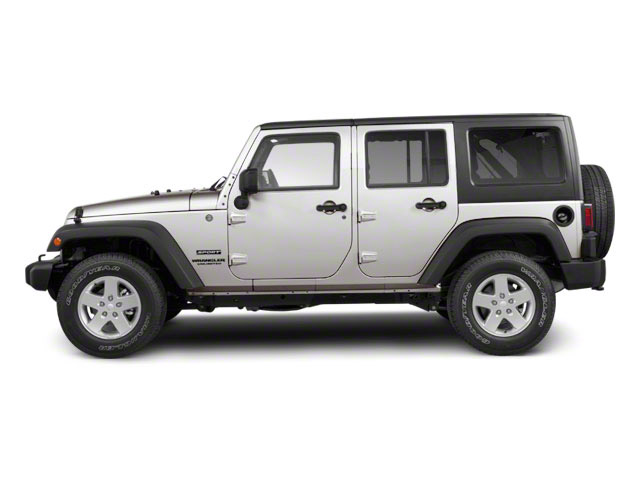 Bright Silver Metallic 2010 Jeep Wrangler Unlimited Pictures Wrangler Unlimited Utility 4D Unlimited Sport 4WD photos side view