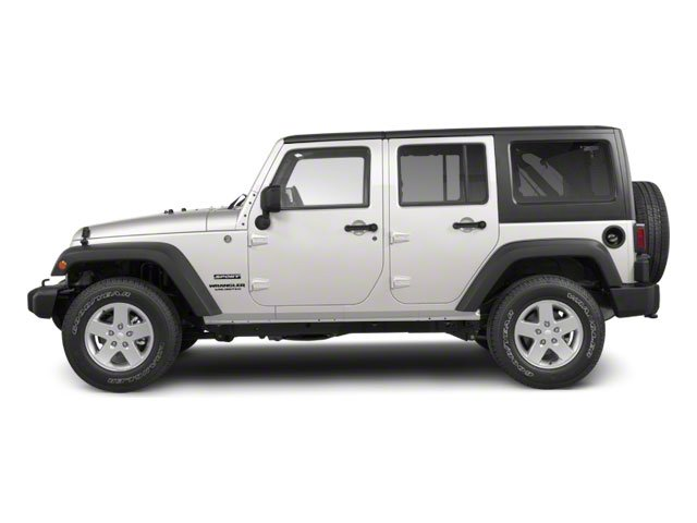 Stone White 2010 Jeep Wrangler Unlimited Pictures Wrangler Unlimited Utility 4D Unlimited Sport 4WD photos side view