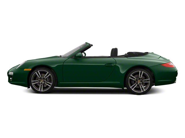 Malachite Green Metallic 2010 Porsche 911 Pictures 911 Cabriolet 2D 4 AWD photos side view