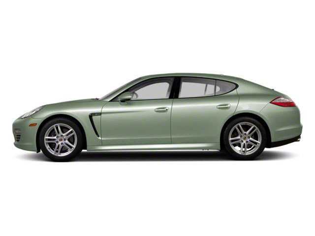 Crystal Green Metallic 2010 Porsche Panamera Pictures Panamera Hatchback 4D Turbo AWD photos side view