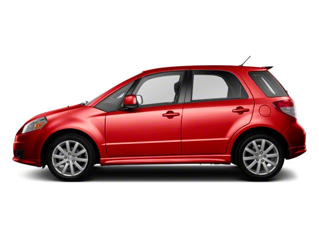 Vivid Red 2010 Suzuki SX4 Pictures SX4 Hatchback 5D Sport photos side view