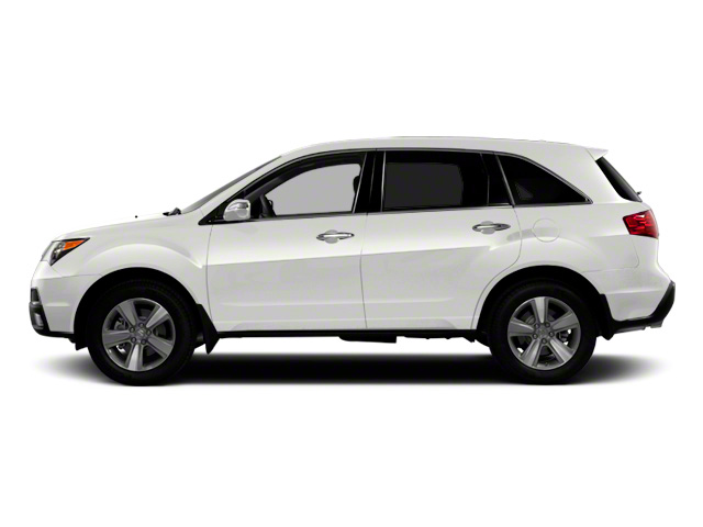 Aspen White Pearl 2011 Acura MDX Pictures MDX Utility 4D Advance DVD AWD photos side view