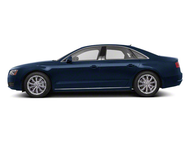Night Blue Pearl 2011 Audi A8 Pictures A8 Sedan 4D 4.2 Quattro photos side view