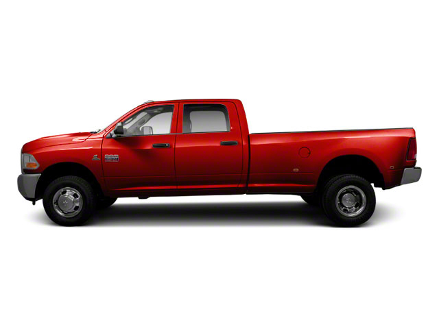 Bright Red 2011 Ram Truck 3500 Pictures 3500 Crew Cab SLT 2WD photos side view