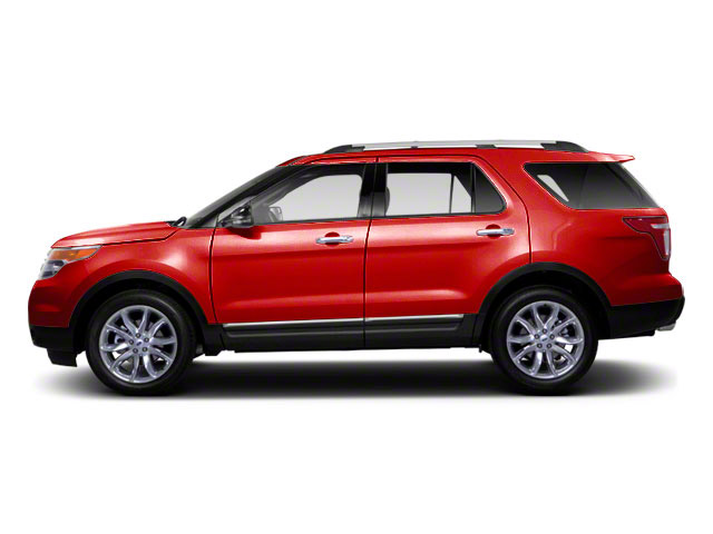 Red Candy Metallic Tinted Clearcoat 2011 Ford Explorer Pictures Explorer Utility 4D XLT 2WD photos side view