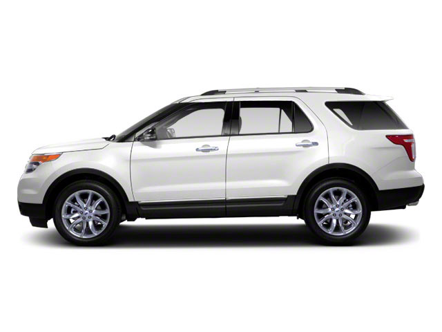 White Suede 2011 Ford Explorer Pictures Explorer Utility 4D XLT 2WD photos side view