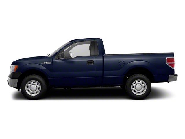 Dark Blue Pearl Metallic 2011 Ford F-150 Pictures F-150 Regular Cab XLT 2WD photos side view
