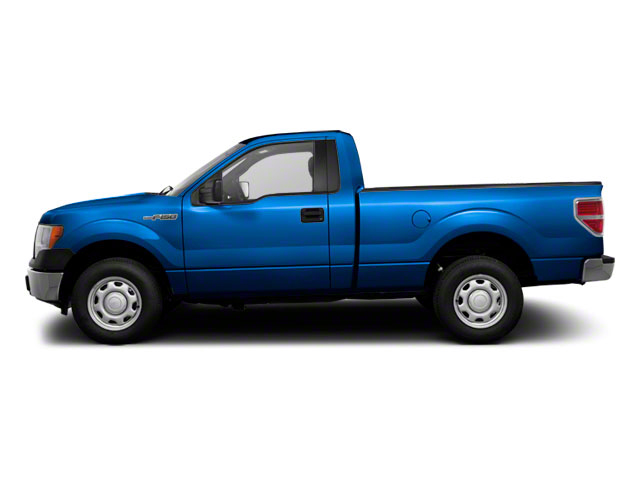 Blue Flame Metallic 2011 Ford F-150 Pictures F-150 Regular Cab XLT 2WD photos side view
