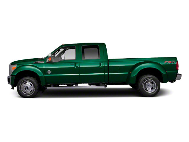 Forest Green Metallic 2011 Ford Super Duty F-450 DRW Pictures Super Duty F-450 DRW Crew Cab Lariat 4WD T-Diesel photos side view