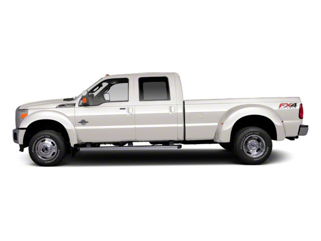 White Platinum Metallic Tri-Coat 2011 Ford Super Duty F-450 DRW Pictures Super Duty F-450 DRW Crew Cab Lariat 4WD T-Diesel photos side view