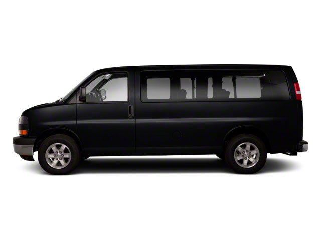 Onyx Black 2011 GMC Savana Passenger Pictures Savana Passenger Savana LS 135 photos side view