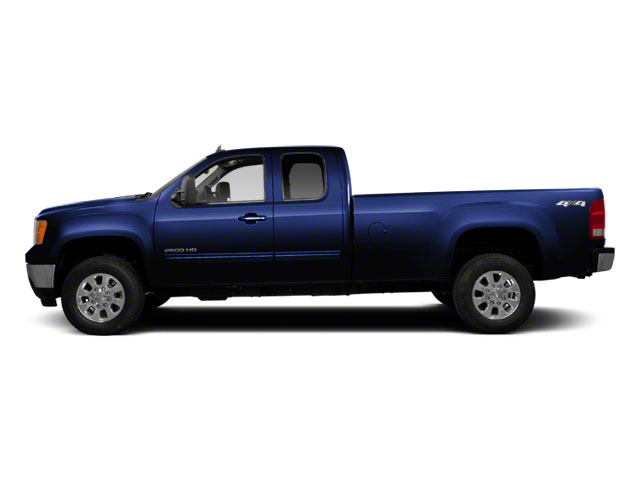 Midnight Blue Metallic 2011 GMC Sierra 2500HD Pictures Sierra 2500HD Extended Cab SLE 4WD photos side view