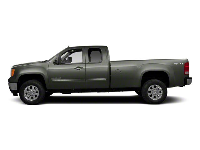 Gray Green Metallic 2011 GMC Sierra 2500HD Pictures Sierra 2500HD Extended Cab SLE 4WD photos side view