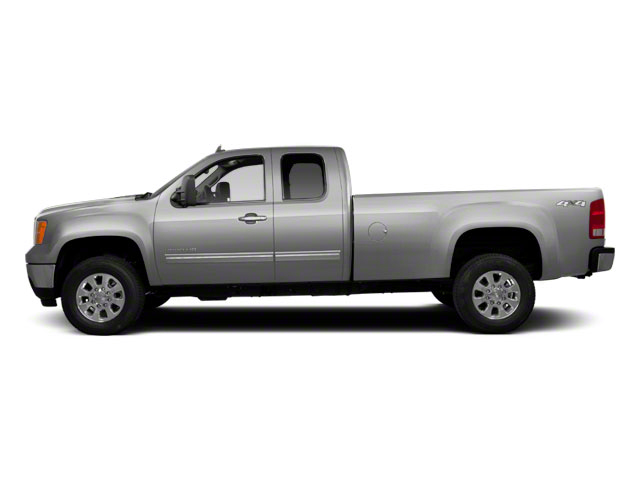 Pure Silver Metallic 2011 GMC Sierra 2500HD Pictures Sierra 2500HD Extended Cab SLE 4WD photos side view