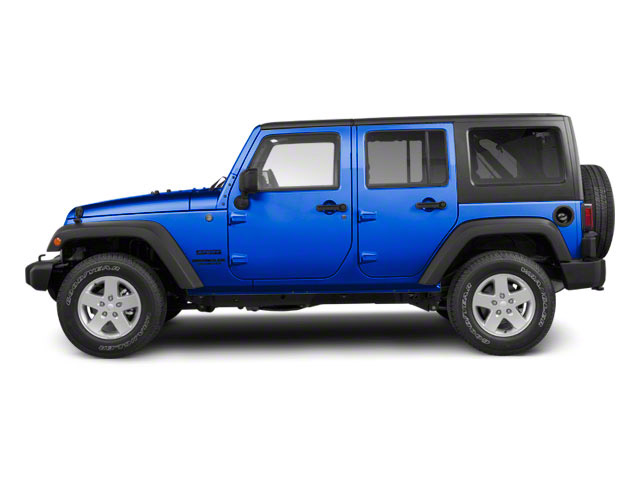 Cosmos Blue 2011 Jeep Wrangler Unlimited Pictures Wrangler Unlimited Utility 4D Unlimited Sahara 4WD photos side view