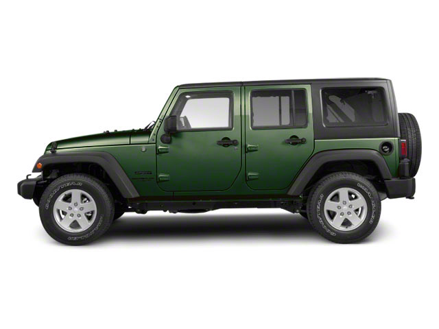Natural Green Pearl 2011 Jeep Wrangler Unlimited Pictures Wrangler Unlimited Utility 4D Unlimited Sahara 4WD photos side view