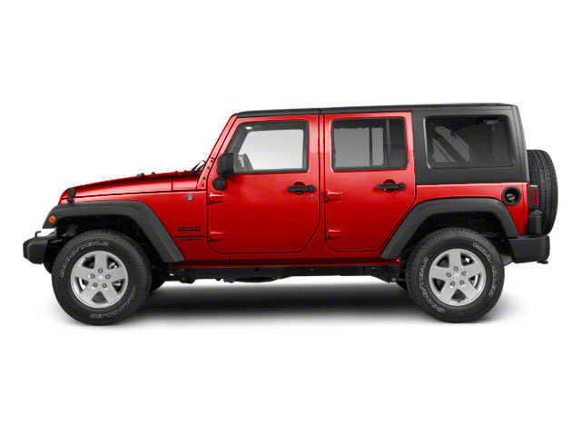 Flame Red Clear Coat 2011 Jeep Wrangler Unlimited Pictures Wrangler Unlimited Utility 4D Unlimited Sahara 4WD photos side view