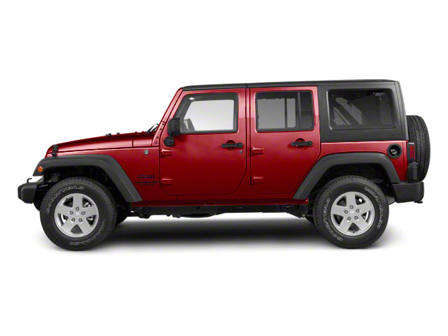 Deep Cherry Red Crystal Pearl Coat 2011 Jeep Wrangler Unlimited Pictures Wrangler Unlimited Utility 4D Unlimited Sport 4WD photos side view