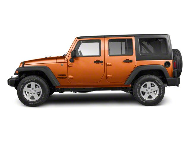Mango Tango Pearl 2011 Jeep Wrangler Unlimited Pictures Wrangler Unlimited Utility 4D Unlimited Sahara 4WD photos side view