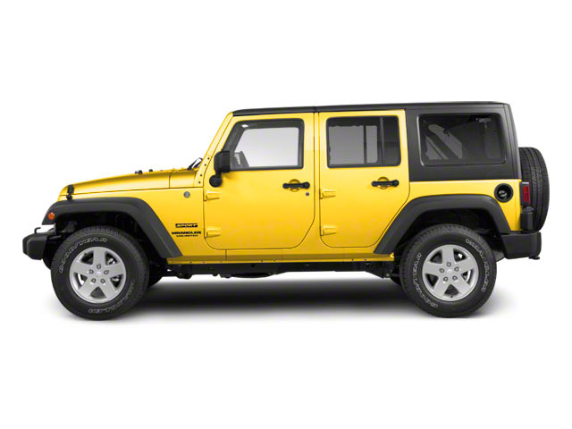 Detonator Yellow Clear Coat 2011 Jeep Wrangler Unlimited Pictures Wrangler Unlimited Utility 4D Unlimited Sport 4WD photos side view