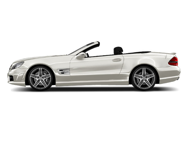 Diamond White Metallic 2011 Mercedes-Benz SL-Class Pictures SL-Class Roadster 2D SL550 photos side view