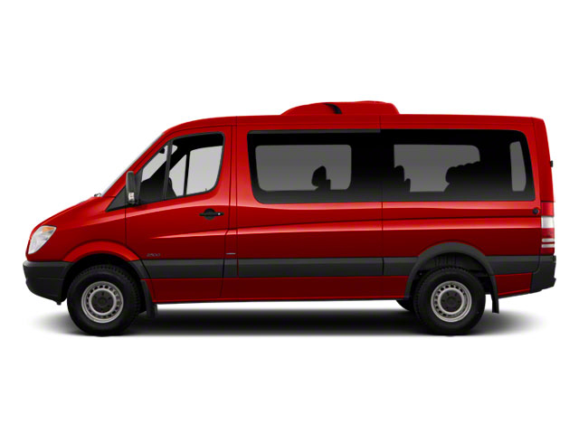 Flame Red 2011 Mercedes-Benz Sprinter Passenger Vans Pictures Sprinter Passenger Vans Passenger Van photos side view