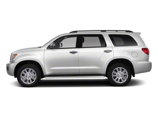 Super White 2011 Toyota Sequoia Pictures Sequoia Utility 4D Limited 4WD photos side view