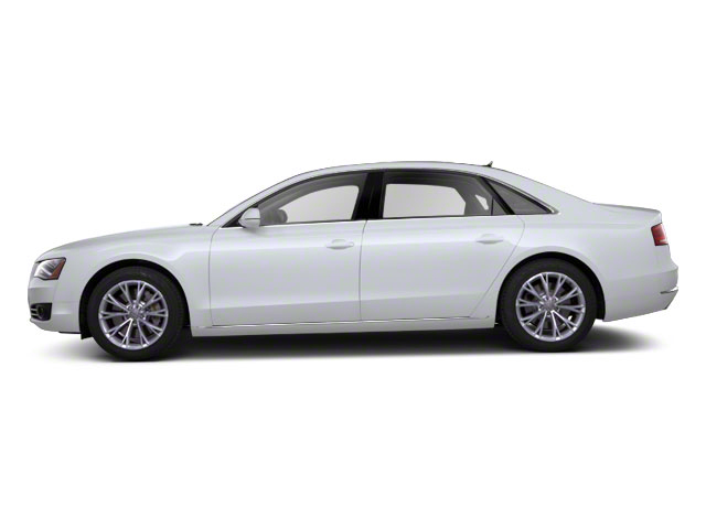 Glacier White Metallic 2012 Audi A8 L Pictures A8 L Sedan 4D 4.2 Quattro L photos side view